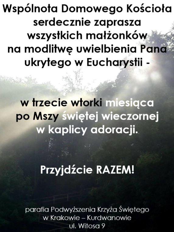 Modlitwa uwielbienia Pana