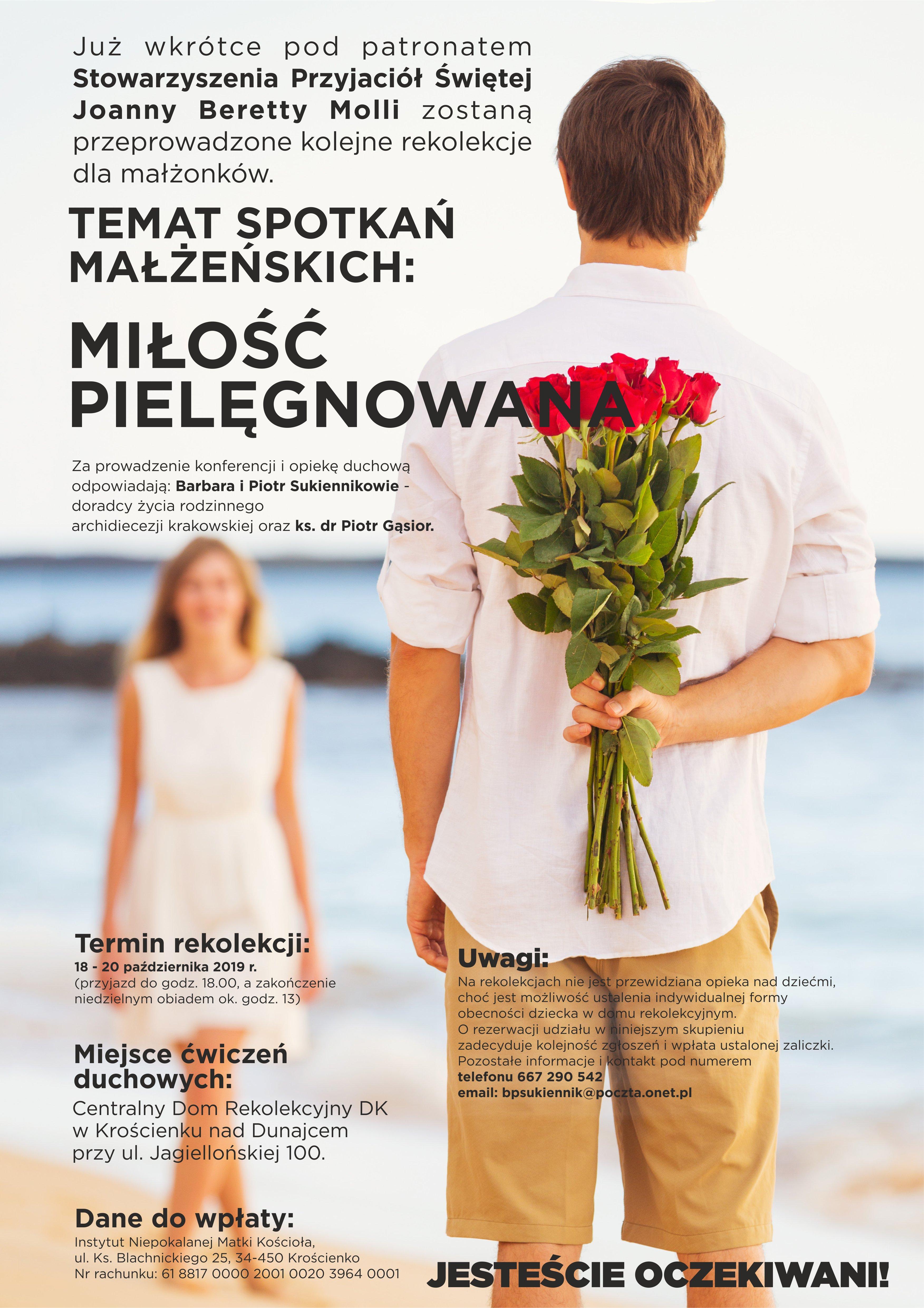 Rekolekcje dla małżonków – Miłość pielęgnowana