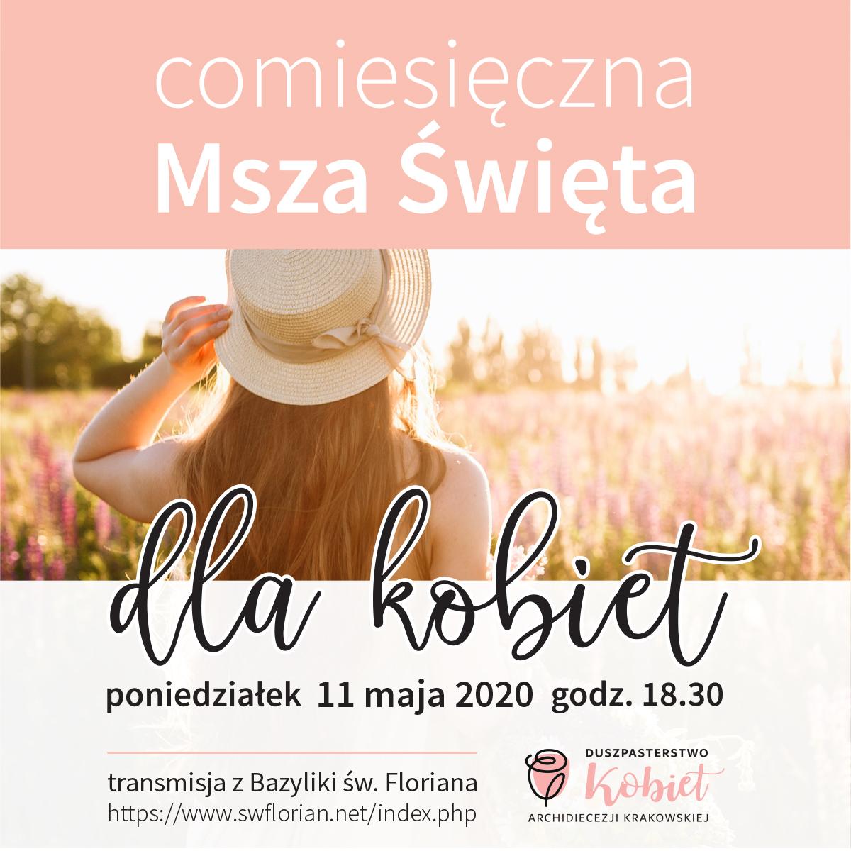 Msza św. dla kobiet 11 maja 2020